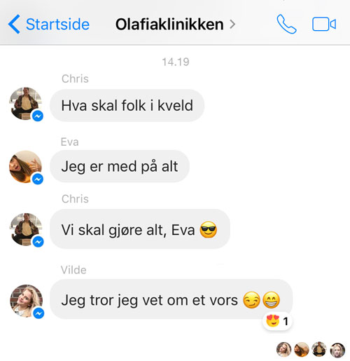 chris skam og eva
